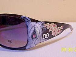 Skye terrier hand painted special crystal  sunglasses original dog art gift