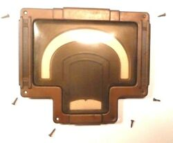 Vintage Rca Model 9k3 Part Brass Station Faceplate And Plastic Viewer W/ Screws