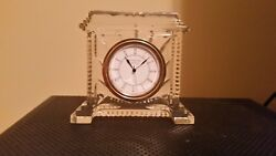 Waterford Crystal Coliseum Clock New With Bag And Original Box. Made In Ireland