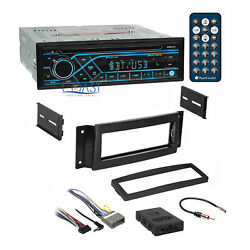 Planet Audio CD Bluetooth Stereo Dash Kit Amp Harness for 04+ Chrysler Pacifica