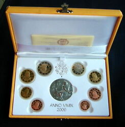 2009 Italy Vatican Rare Official Complete Set Euro Coins Unc Proof Benedetto Xvi
