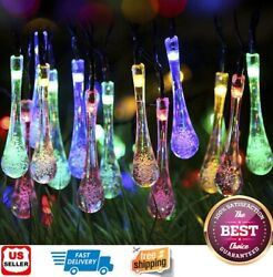 Outdoor Solar Powered 30 LED String Light Garden Patio Yard Landscape Lamp Party $11.98