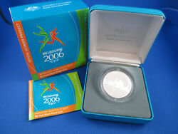2006 5 - Melbourne 2006 City Of Sport - Fine Silver Proof Coin. Superb