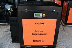 Eco-Max  20hp 220 Volt (New Variable speed) Industrial  Rotary Screw Compressor