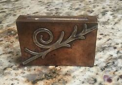 Victoria Taxco Silver And Copper Matchbox Holder