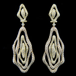 18k Yellow & Rose Gold Micro Pave Diamond Earring