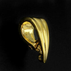 14k Yellow Gold Over Sterling Silver Bail 6 X 15mm For Pendant With Findings