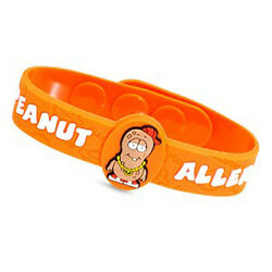 Peanut Allergy Medical Alert Bracelet For Children. Fits 4 1/2 - 6 Inch