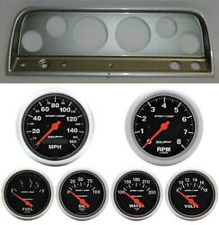 64 Chevy Truck Silver Dash Carrier W/ Auto Meter Sport Comp Electric Gauges