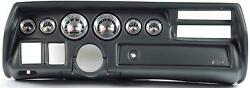 70-72 Chevelle Sweep Black Dash Carrier W/ Auto Meter American Muscle Gauges