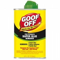 Case Of 12 Goof Off Fg677 Super Glue Remover, 4ounce, New, Free Shipping