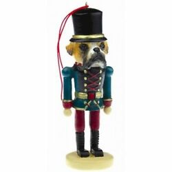 BOXER UNCROPPED DOG CHRISTMAS ORNAMENT NUTCRACKER SOLDIER HOLIDAY XMAS 5 inch