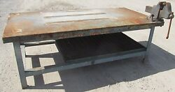 Steel Work Bench Welding Table Vise 4and039 X 8and039 X 34 2457wvs