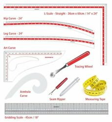 Set Of 9 Technical Drawing And Fashion Designing Instruments Designing Kit