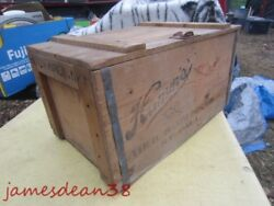 Hamms Master Brew Wood Wooden Beer Crate Case