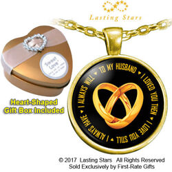 Best Birthday Anniversary Gift For Husband I Love You Necklace + Gift Box