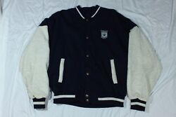 Dallas Cowboys Button Up Jacket Stadium Collection Club Rare Size L Nfl Football