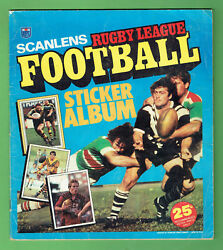 T41. Set 1983 Scanlens Rugby League Stickers And Album