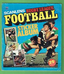 T49. Set 1983 Scanlens Rugby League Stickers And Album