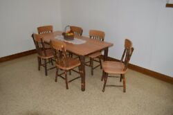 Aandl Furniture Co. Amish-made Hickory 7-piece Dining Sets - Table With Chairs