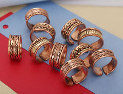 Assorted Medicine Ring Copper Magnetic Adjustable Ring Jewelary Pure Copper T14
