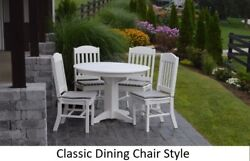 Aandl Furniture Co. Amish-made Poly 5pc Dining Set - Table And Classic Chairs