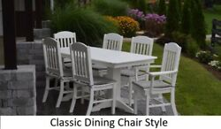Aandl Furniture Co. Amish-made Poly 7pc Dining Set - Table And Classic Chairs