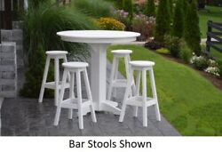 Aandl Furniture Co. Amish-made Poly 5pc Dining Set - Bar Table And Bar Stools