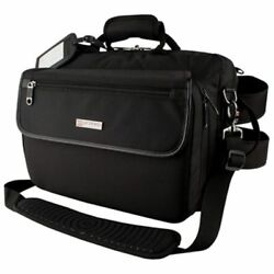 Protec Messenger Bag Oboe Case (Black) with large pouch and Straps