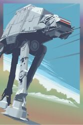 At-at Foil Print By Craig Drake - Hero Complex Gallery - Star Wars - Sold Out
