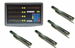 Bridgeport 4 Axis Dro Mill Package All 4 Linear Glass Scales Digital Readout New