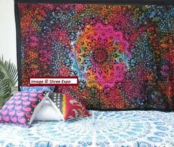Large tapestry Ethnic Tie Dye Star Hippie Wall Tapestry Boho Throw Bed Cover