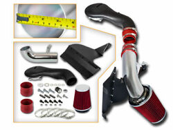Cold Heat Shield Air Intake Kit + Red Filter For 96-04 Chevy S10 Blazer 4.3l V6
