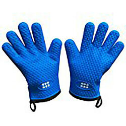 Heat Resistant Bbq Cooking Gloves And Oven Mitts. Insulated Silicone With Protecti