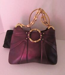 Gucci Handbag Tom Ford Metallic with Gold Chain and Dust Bag #14158