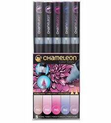 Chameleon Pen Set Of 5 Floral Tones