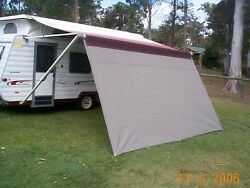 Shade Curtain/privacy Screen For Caravan Roll Out Awning 1.8 X 5.5m.6 X 18.4ft