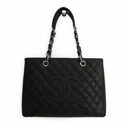 Chanel Caviar Skin Grand Shopping Tote GST A50995 Women's Leather Shoul BF316855