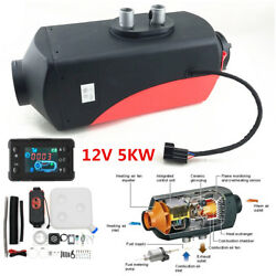 12V 5KW Diesel Fuel Air Heater Car Truck Heating Kit LCD Monitor Wireless Remote