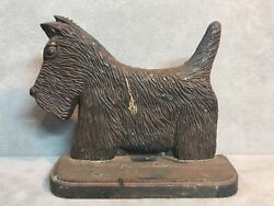 Antique Scottie Dog Scottish Terrier Cast Iron Doorstop