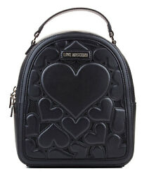 MOSCHINO NEW women Bucket Bag & Backpack in Black ORIGINAL  Size one size