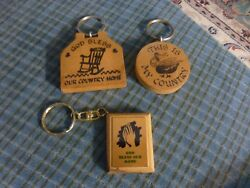 Vintage Country Home Blessing Wood Keychain Kitchen Magnet Lot Of 3 Collectors