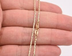 1.50mm Rock Sparkle Twisted Chain Necklace Real Solid 14k Yellow White Gold