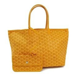 Goyard Saint Louis Saint Louis PM Women's Leather Canvas Tote Bag Yello BF317360