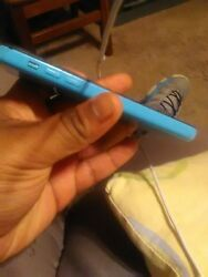Verizon Iphone 5c Blue Needs New Screen Or For Parts - Good Working Condition