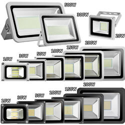 LED Flood Light 1000W 500W 300W 200W 150W 100W 50W 30W 20W 10W US Plug Outdoor
