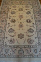 6' X 8' Vintage Handmade Floral Rug Ca.1990 - Free Shipping