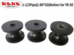 Tr50 Round Pipe Rollers Dies1-1/2andrdquo Pipe 1.9andrdquoodroller For Tr50