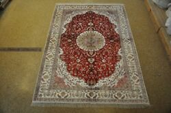 Discount Rugs Traditional Hand-knotted Rug 6and039 X 9and039 Silk
