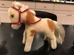 Vintage Steiff Standing Horse With Red Bridle